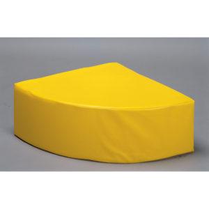 pufa ćwiartka - żółta
