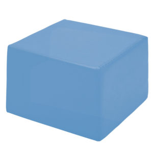 pufa kwadratowa - niebieska