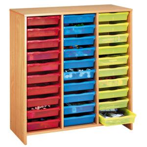 szafka bukowa z 30 kolorowymi pojemnikami MobiNathan