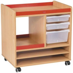szafka plastyczna na kółkach