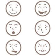 gra wyrazy twarzy - gra sortowanie