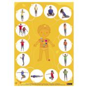 gry koncentracja i joga - plakat ''rozgrzewka - ćwiczenia oddechowe''