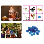 karty obrazkowe i dźwięki instrumentów muzycznych