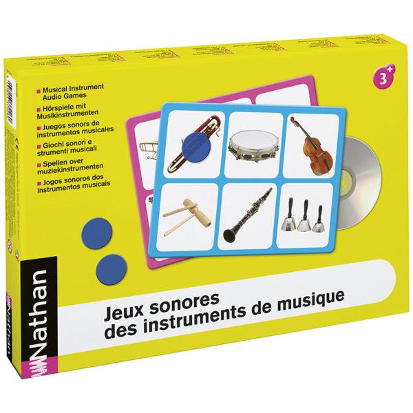 karty obrazkowe i dźwięki instrumentów muzycznych - opakowanie