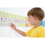 nauka liczenia - magnetyczna plansza ścienna - w przedszkolu