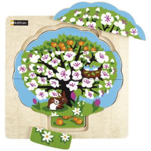 puzzle - cztery pory roku