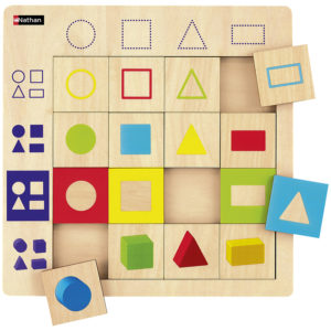 puzzle logiczne - figury geometryczne