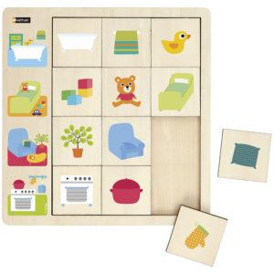 puzzle obserwacyjne - w domu