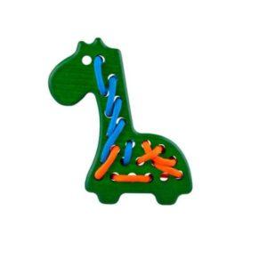 przeszywanka - żyrafa - zielona