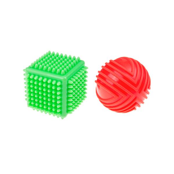 zestaw sensoryczny - kostka z piłką