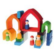 dom kolorowy 5 elementów Grimm's - przykładowe układanie 2