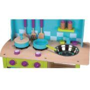 kuchnia drewniana niebieska - zoom
