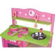 kuchnia drewniana różowa - zoom