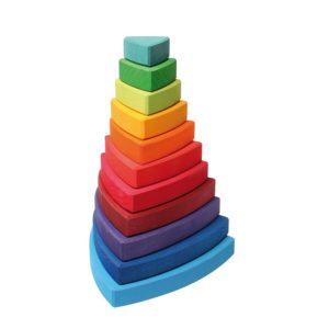 trójkątna kolorowa wieża Grimm's