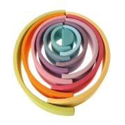 tunel pastelowy 12 elementów Grimm's - przykładowe układanie 4