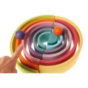 tunel pastelowy 12 elementów Grimm's - przykładowe układanie 5