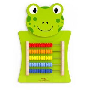 panel sensoryczny żabka - liczydło