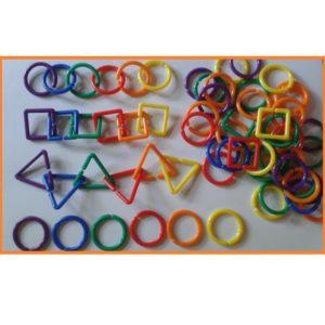 liczmany geometryczne 72 szt - łancuchy