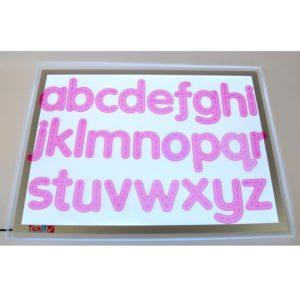 litery silikonowe - alfabet