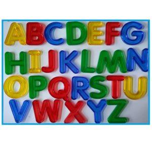 litery transparentne - alfabet