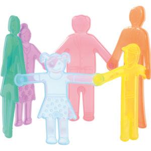 silikonowe ludziki - rodzinka