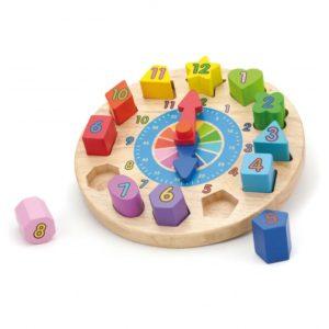 edukacyjny zegar z sorterem