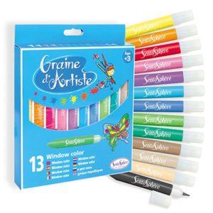 farby do malowania na szkle - 13 sztuk