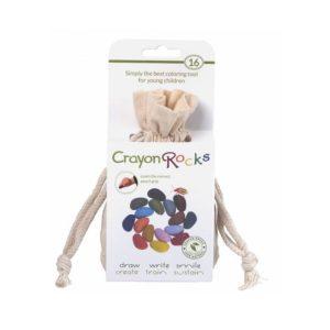 kredki Crayon Rocks - 16 kolorów - opakowanie bawełniany woreczek