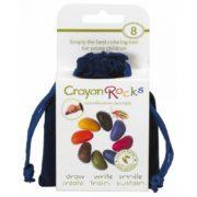 kredki Crayon Rocks - 8 kolorów - opakowanie aksamitny woreczek