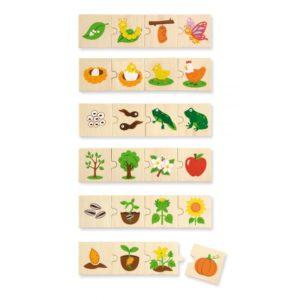 puzzle rosnące zwierzątka i rośliny