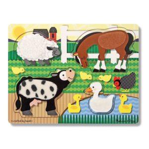 puzzle zmysłowe Dotknij i poczuj - farma