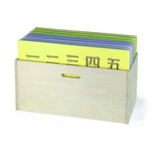 Drewniane Pudełko Na Tablice Do Pisania + tablice
