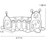 Modułowy Tunel Zabawowy Gąsienica - wymiary