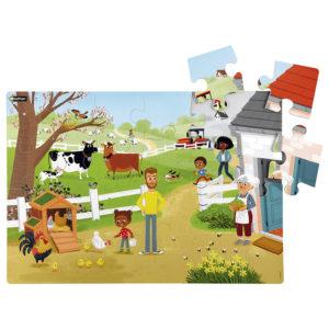 maxi puzzle na farmie