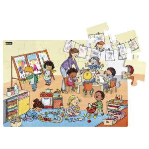 maxi puzzle w przedszkolu