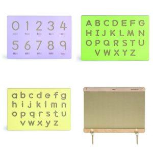 zestaw paneli ściennych - rama, cyferki, duże i małe litery