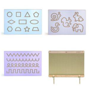 zestaw paneli ściennych - rama, szlaczki, kształty, zwierzęta