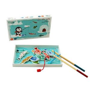 gra magnetyczna pingwin na rybach