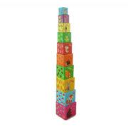 Układanka klocki kubeczki Leśne - wieża 106 cm