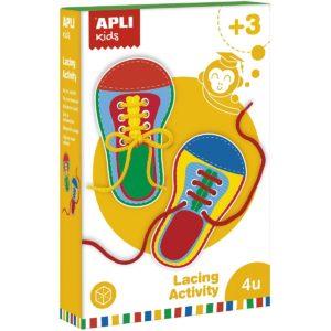 zestaw do nauki wiązania butów Apli Kids - opakowanie