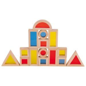 Klocki z kolorowymi okienkami Goki