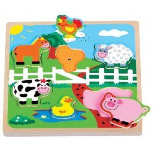 puzzle dżwiękowe farma