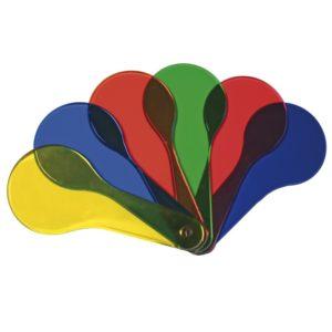kolorowe szkiełka do mieszania kolorów