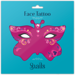 face tattoo - queen of hearts
