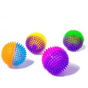 świecąca piłka z kolcami 10 cm