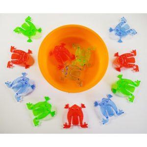 skaczące żabki transparentne