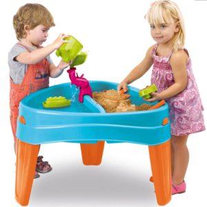 piaskownica stół wodny 2 w 1 z pokrywą i akcesoriami - zabawa