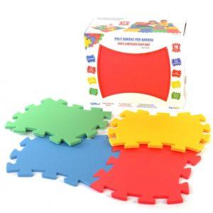 Piankowa Mata Edukacyjna Antybakteryjna Puzzle kolorowe - opakowanie